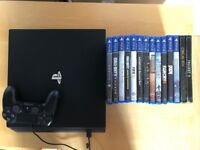 Ps4 pro (PlayStation 4 pro) , all boxed ,as new ! plus 15 games ! Price stands , no offers ! bargain