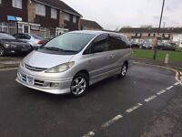 8 Seats Toyota Estima Areas Automatic Silver Kited in Excellent condition 95000 miles