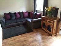 Brand new half leather DFS sofa