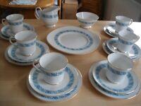 6 place setting Royal Tuscan Fine Bone China Wedding Tea Set