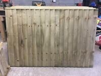 HEAVY DUTY PRESSURE TREATED FEATHER EDGE STRAIGHT TOP WOODEN FENCE PANELS 🌲