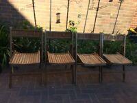 4x vintage folding garden chair in need of tlc