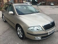 2005 SKODA OCTAVIA ELEGANCE ESTATE 2.0 TDI, DIESEL, 140 BHP, 6 SPEED MANUAL, LONG MOT, CHEAP TO RUN!