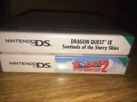 2 Nintendo DS Games - Dragon Quest, Worms