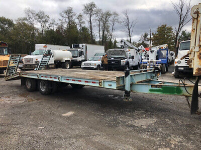 2010 Stephan Green 12 Ton Deckover Utility Trailer Pintle Hitch Equipment Used