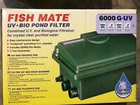 Fish Mate G-UV 6000 UV+BIO Pond Filter BNIB
