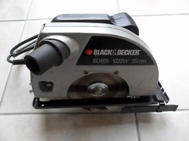 Black & Decker Circular Saw BD855 1020W 55mm Inc Instructions