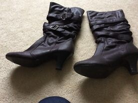 1x size 5 boots worn once, 2x new size 4 leather/suede boots