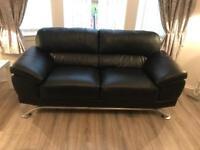2z3 black leather sofas