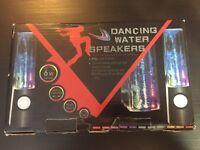 Dancing Water Speakers, USB power, White