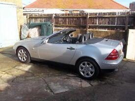 Mercedes SLK 230 auto Met Silver, excellent condition