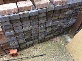 130 grey paving blocks