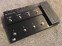 Guitar rig foot pedal