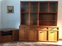 Vintage Nathan Teak Display Cabinet with lights