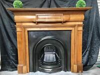 Antique Victorian Scots Oak Fireplace Surround