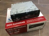 Pioneer DEH-X6500DAB car stereo - complete with box and accessories.