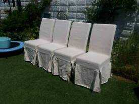 REDUCED FOR A QUICK SALE - 4 NEARLY NEW DINING CHAIRS