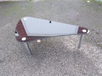 Small Next Black Glass & Chrome Coffee Table FREE DELIVERY 090