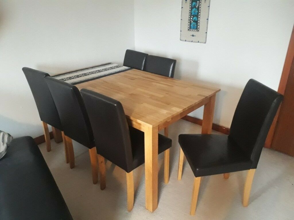 Solid Oak Extendable Dining Table And Six Chairs In East End Glasgow Gumtree
