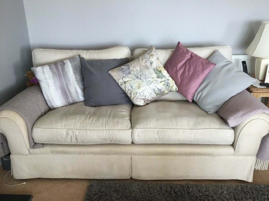 Laura Ashley Large Two Seater Sofa Colour Is Natural Fibre Filled Ushions Very