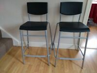 Bar stools (with backrests)
