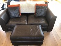 Harvey's brown sofas, standerd and large 2 seater sofas for sale. In good condition. 10 years old.