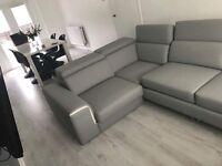 1 week old grey corner sofa
