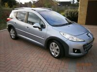 2009 PEUGEOT 207 SW OUTDOOR SATNAV LEATHER GLASS ROOF 110BHP DIESEL FULL HISTORY