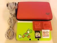 Nintendo 3DS XL Yoshi Limited Edition - Pokemon Y/Omega - Zelda Hourglass - Case