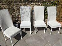 4 Lloyd Loom Dining Chairs