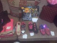 Various kids items shoes toys and more