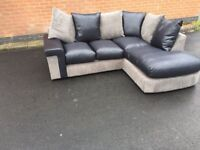 Great BRAND NEW black and grey corner sofa ,good quality ,still packed ,can deliver