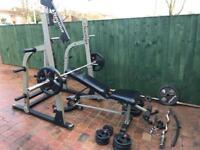 Nautilus Half Rack plus free weights