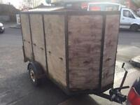 """Trailer 4'6"""" X 10' X 5' with drop down ramp/tailgate tows well Bargain!"""