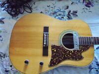 Vinatge Japanese acoustic guitar