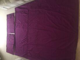 M&S double duvet cover. 2 matching pillow slips.