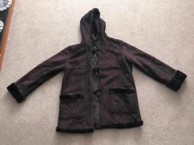 Ladies brown coat - size 14