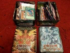 yugioh cards 2 tins only 10 pounds ..