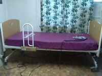 Electric adjustable hospital bed and pressure mattress for sale