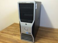 Powerful DELL Workstation XEON QUAD CORE - 16GB Ram - ATI FirePro V4800, 1TB HDD, Windows 10 Desktop