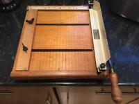 Wooden Guillotine Paper Cutter Retro Old School