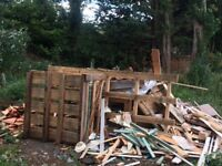 Free Large pile of fire wood
