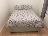 Double Duvan Bed and Mattress
