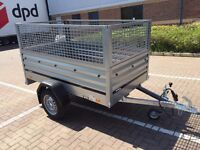 car box trailer brenderup 1205 XL + mesh side