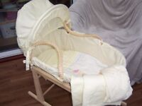 Moses basket and stand **Very Good Condition**