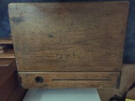 Old fashioned school desk with chair £20