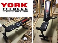 Weights Bench, Dumbell Bench. York Fitness Adjustable, Exercise, Bodybuilding.