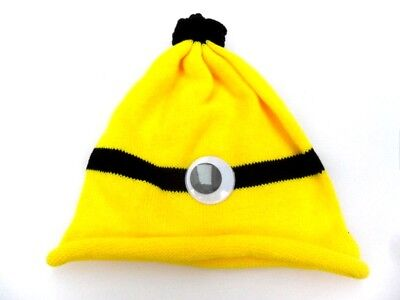 New Womens Girls Minion Hat headgear Fancy Dress Party Halloween Dspicable Me