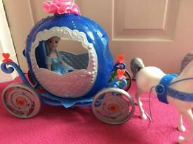 Disney Cinderella carriage and doll set