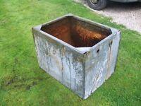 Vintage Galvanised Water Tank